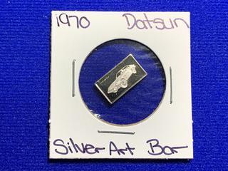 "Sterling Silver Art Bar ""1970 Datsun""."