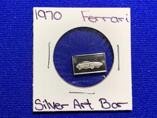 "Sterling Silver Art Bar ""1970 Ferrari""."