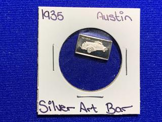 "Sterling Silver Art Bar ""1935 Auburn""."