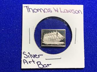 "Sterling Silver Art Bar ""Thomas W. Lawson""."