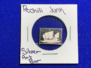 "Sterling Silver Art Bar ""Pechili Junk""."