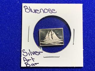 "Sterling Silver Art Bar ""Bluenose""."