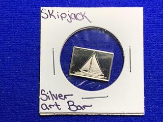 "Sterling Silver Art Bar ""Skipjack""."