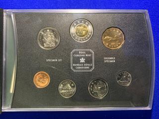 2001 Canada Specimen Coin Set.