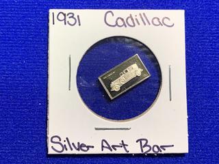 "Sterling Silver Art Bar ""1931 Cadillac""."
