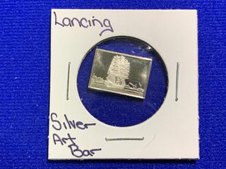 "Sterling Silver Art Bar ""Lancing""."