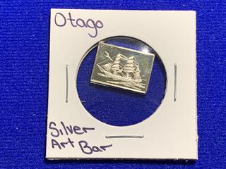 """Sterling Silver Art Bar """"Otago""""."""