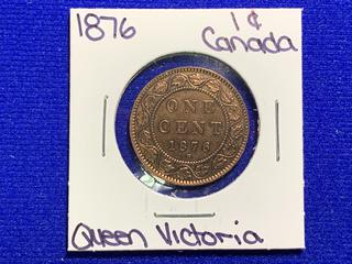 1879 Canada Large One Cent Coin.