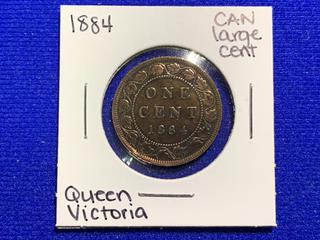 1884 Canada Large One Cent Coin.