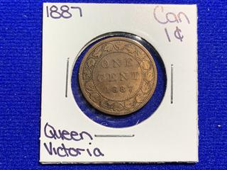 1887 Canada Large One Cent Coin.