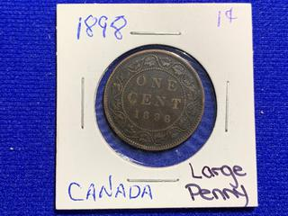 1898 Canada Large One Cent Coin.