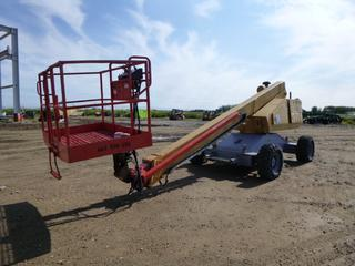 1986 Grove M248 Boom Lift, C/w Deutz Diesel Engine, Showing 3483 Hrs., 72 In. Basket, 10 FT. Boom, Max Capacity 500 lbs, Tire Size 12-16.5 NHS, S/N 14719, *Note: Turns Over, Does Not Start, Last Inspected 2017*