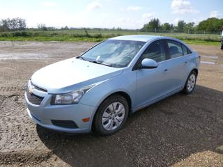 2012 Chevrolet Cruze c/w 1.4L Ecotech, A/T, A/C, Showing 299,958 Kms, 215/60R16 Tires at 10%, VIN 1G1PF5SC9C7152266 *Note: Rust*
