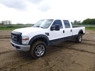 2008 Ford F-350 XL Super Duty Crew Cab 4X4 Pick Up c/w 5.4L, A/T, A/C, Showing 253,086 Kms, Manual Hub, LT275/65R20 Tires at 10%, 8 Ft. Box, VIN 1FTWW31558EB22632 *Note: ABS Light On, Damage to Tail Light, Rust*