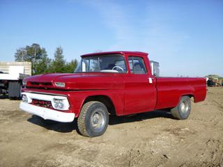 1967 GMC 1500 Pick Up c/w 31,944 Kms, LT225/75R15 Tires at 30%, 31x11.5R15 Rears at 30%, 8 Ft. Box, VIN 2C91534606753A *Note: Only One Front Brake*