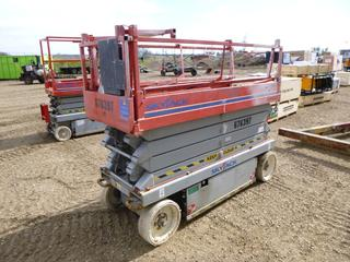 Sky Jack SJ3226 Scissor Lift c/w 260 Hours, 26 Ft. Platform Height, 2 Person, 500 Lb Capacity, Last Certified November 2017, SN 279357 *Note: Running Condition Unknown*