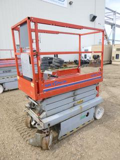 2009 Sky Jack SJ3219 Scissor Lift c/w 206 Hours, 19 Ft. Platform Height, 2 Person, 500 Lb Capacity, 23V, SN 22019173 *Note: Running Condition Unknown*