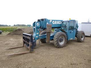 2007 Gradall 544D-10 Telehandler c/w 4.5L John Deere, Diesel, Showing 5,706 Hours, Heater, Joystick, Aux Hyd, Rotating Gradall 47In. Fork Attachment Carriage, Outrig Front, 14.00-24 Tires, SN 0160026706, Last Certified April 2020