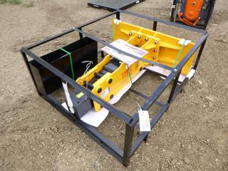 Unused TMG Skid Steer Hydraulic Breaker, Model TMG-HB90S w/ 75mm Chisel, Nitrogen Charge Kit and Service Kit, SN 3221210533
