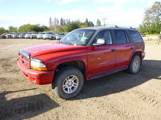 2001 Dodge Durango SLT c/w 3.9L V8 Magnum, 275/70R16 Tires at 20%, VIN 1B4HS28N31F551754 *Note: Parts Only*