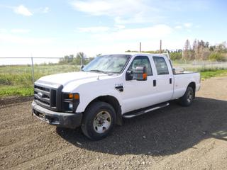 2009 Ford F-250 Super Duty XL Crew Cab c/w 5.4L, A/T, Showing 197,626 Kms, Headache Rack, Storage Cabinet, LT245/75R17 Tires at 40%, Rears at 30%, VIN 1FTSW20539EA97578 *Note: Rust*