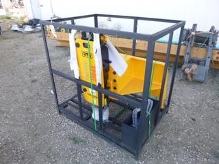 Unused TMG 8 In. Diameter Skid Steer Post Driver, Model TMG-PD700S w/ Nitrogen Chase Kit With Cylinder Adapter and Service Kit, SN 3220210560
