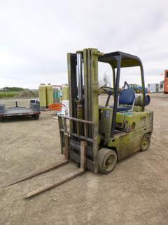 Clark C-500-50 Forklift c/w 4,174 Hours, LPG, (1) 42 In. Forks, (1) 47 In. Forks, 3 Stage Mast, New Radiator and Water Pump, SN 50-57-1114
