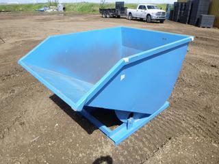Unused Standard Duty Steel Dumping Hopper, 2 Cubic Yard