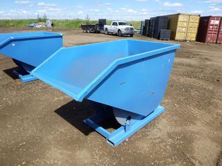 Unused Standard Duty Steel Dumping Hopper, 1 Cubic Yard