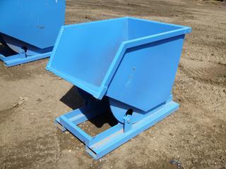 Unused Standard Duty Steel Dumping Hopper, 1/2 Cubic Yard