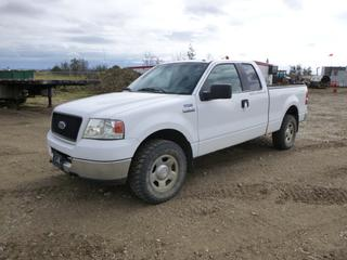 2005 Ford F-150 4X4 Extended Cab Pick Up c/w 5.4L 3V Triton, A/T, A/C, Showing 289,729 Kms, LT265/70R17 Tires at 30%, Rears at 40%, 6 Ft. 6 In. Box, VIN 1FTPX14505NA50106