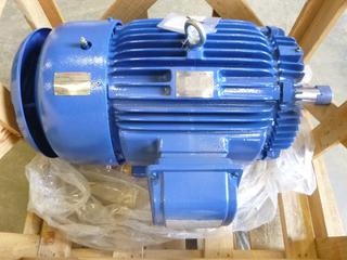 Advantage Plus, 30 HP Electric Motor, Output 30 HP, 22 KW, 460 V, 37.5 A, 1175 RPM, 2 1/8 In. Shaft Diameter (T1-3)