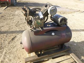 60 Gal. Air Compressor With Baldor Electric Motor, 5 HP, 230/460 V, *Note: Working Condition Unknown* (Row 1-1)