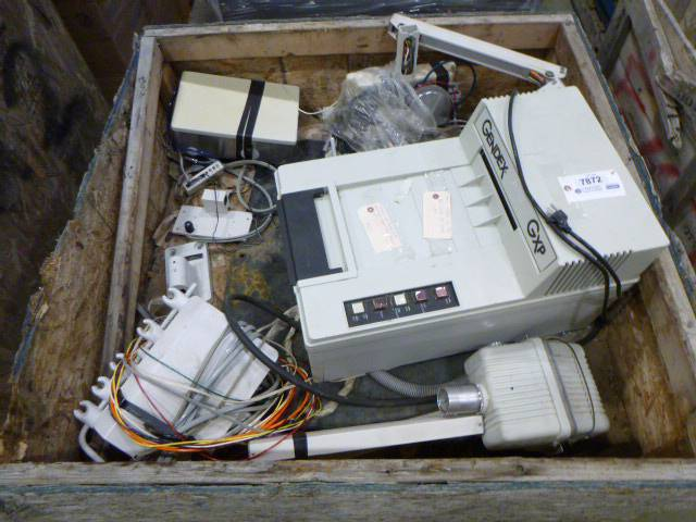 Assorted Dental Equipment In Crate Including Gendex GXP Film Processor, Aidex 3045 Dental Unit and More (W3-2)