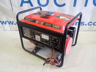 King Canada Power Force 1500W Portable Gas Generator, Model KCC-1500G, 2.5 HP Motor *Note: Missing Pull Cord, Running Condition Unknown* (L-3-1)