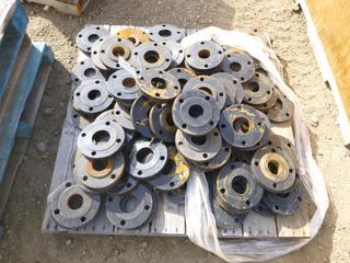 Pallet of Metal Flanges (Row 1-2)