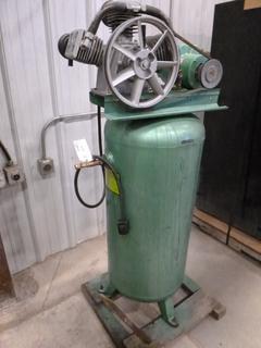 Speedaire Air Compressor, Model 57185B, 5 Hp, Single Phase, 230 V, c/w Dayton Motor, MD-261 230 V, SN 01093L 010369 (Z)