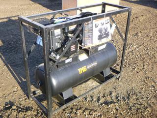TMG Industrial 40 Gallon Two Stage Air Compressor, Model TMG-GAC40, w/ Loncin 302cc Gasoline Engine, S/N 3217210432 (Row 1-1)