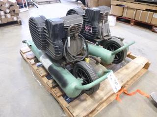 (2) Hitachi 5 Gal. Air Compressors, Model EC 16, 115V, 60 Hz, 13.5 A *Note: Retired, Requires Service / Repairs* (M-4-1)