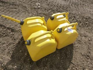(4) 20 L Yellow Diesel Jerry Cans (Row 1-1)