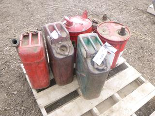 (6) Metal Gas Cans (Row 1-1)
