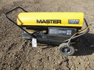 Master RC115DT Diesel Electric Heater c/w 9 Gallon, 120V, 115,000 BTU (Row 2-3)