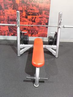 Olympic Flat Bench Press C/w Bar And Weights