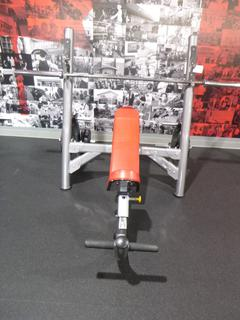 Olympic Incline Bench Press C/w Bar And Weights