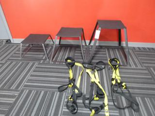 Qty Of (3) Step Ups C/w (3) TRX Suspension Trainers