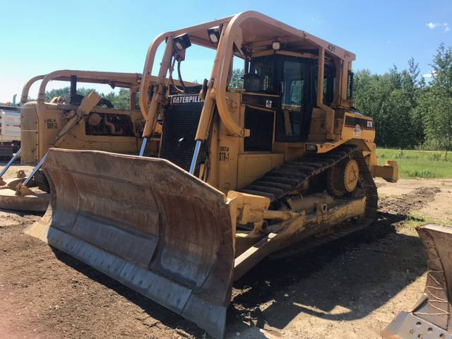 1999 Caterpillar D7R A-Dozer w/ Tilts, A/C, Sweeps, 24 In. Tracks, 2BBL Single Shank Ripper, Showing 15,395 Hours, SN 2EN00870 **Located Off Site, Contact Richard at 780-222-8309 For More Information**