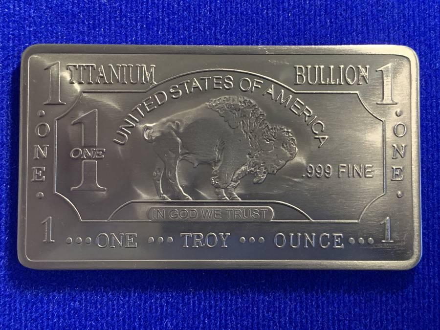 One Troy Ounce .999 Fine Titanium Bar.