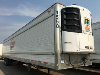 2017 Wabash 53' T/A Refrigerated Van Trailer c/w Thermo King Reefer, Air Ride, Sliding Axle, Unit # 1550, VIN 1JJV532B3HL016170. Reefer S/N 6001203561. Hours Showing 16342.