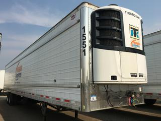 2017 Wabash 53' T/A Refrigerated Van Trailer c/w Thermo King Reefer, Air Ride, Sliding Axle, Unit # 1551, VIN 1JJV532B5HL016171. Reefer S/N 6001203747. Hours Showing 20239.