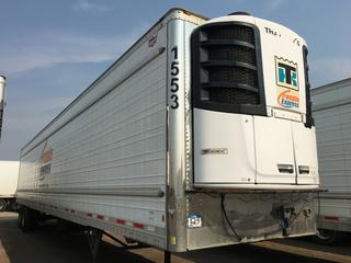 2017 Wabash 53' T/A Refrigerated Van Trailer c/w Thermo King Reefer, Air Ride, Sliding Axle, Unit # 1553, VIN 1JJV532B4HL962990. Reefer S/N 6001203919. Hours Showing 17761.